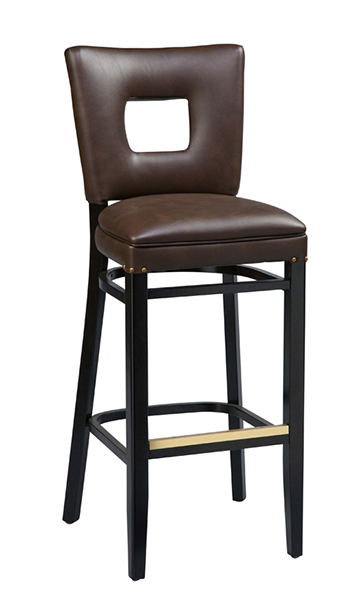 Regal Bar Stool 2426 Open Back Contemporary Wood Bar Stool