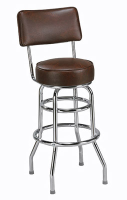 Regal Bar Stool 2106 Arique Split Backed Swivel Seat